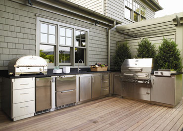 Full Outdoor Kitchen Area