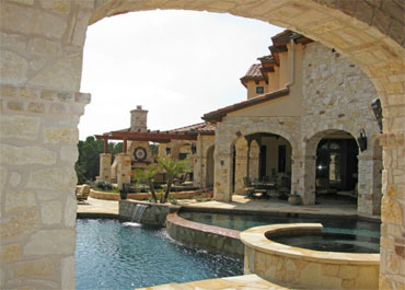 Spanish Style Pool Stone with Arch